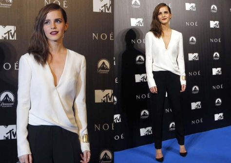 Emma-Watson-J.Mendel-black-white-look-Noah-Premiere-2014-celebrity-fashion